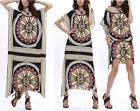 Caftano Kaftan Maglia Vestito Donna Copricostume Top Woman Dress Cover up 110162