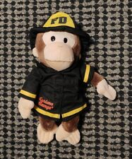 "Gund Curious George FIREMAN 12"" Plush Doll Monkey Fire Fighter Stuffed Animal"