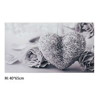 50x80cm Grey Heart Rose Canvas Wall Painting Pictures Print Home Decor .Miy