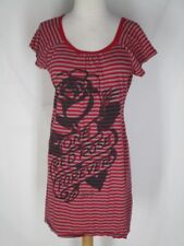 cfccc811a49d Sailor Jerry 1911-1973 Gray Orange Knit Short Dress M One Red Rose Forever