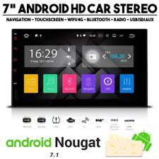 """7"""" Android 7.1 HD con pantalla táctil Bluetooth Navegación Vía Satélite Coche Radio Estéreo USB SD WIFI 4G"""
