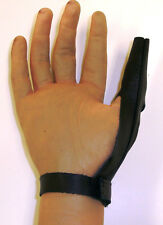 Leather Thumb Guard Saver Bowling Bowler- Extra Large Right or Left  -FREE SHIP