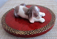 """LLADRO  """"BEAGLE PUPPY LYING"""" #1072 RARE RETIRED PORCELAIN MINT CONDITION"""
