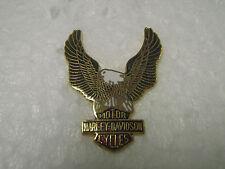 Vintage motorcycle pin biker pinback Harley Davidson EAGLE small gold red