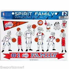 Los Angeles Clippers Family Spirit Window Decals