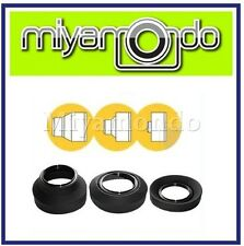 58mm 3 Stage Collapsible Adjustable Rubber Lens Hood