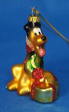"Pluto 2-1/2"" Blown Glass Ornament Figurine Disney Parks 2011"
