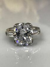Oval With Accents Engagement Wedding Ring 5.50ctw. 14K White Gold #4664