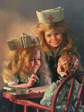 Bob Byerley The Doll House S/N Children Nurse Art Print 18 x 24