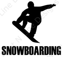 Snowboarding, Snow, Powder, Sport, Team, Window Sticker, Car Decal, Decal