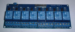 8 way Relay board  for use with UNO/MEGA Rasberry pi  etc UK Seller
