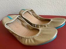 NEW Tieks Size 6 Metallic Gold Never Worn Ballet Flats Shoes Leather Foldable