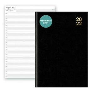 A4 Black 2022 Hardback Diary Day a Page Notepad Diary Planner Book Notebook