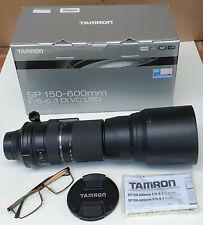 Tamron SP 150-600mm f/5-6.3 Di VC Lens For Nikon - Original box, accessories