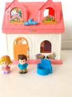 Fisher-Price Little People Surprise & Sounds Home Dollhouse Pink House Mom Dad