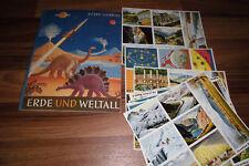 HERBA SAMMELBILDERALBUM: ERDE und WELTALL -- mit 77 ungeklebten Bildern