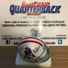 Gronkowski Slater Branch Edelman Autographed New England Patriots TB Mini Helmet