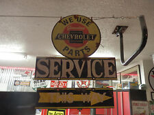 antique style Chevy Chevrolet dealer service station garage 2 piece sign set