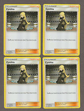 4x POKEMON Sun & Moon Ultra Prism CYNTHIA 119/156 Trainer NM Free Shipping