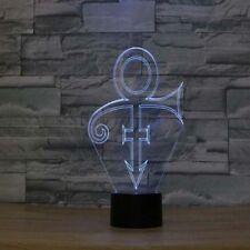 2019 Prince Symbol Night Light Amazing LED Illusion Table Desk Lamp Xmas Gift 3D