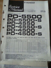 Pioneer PD-5500 / PD-4550 / PD-4500 Series CD Player Service Manual