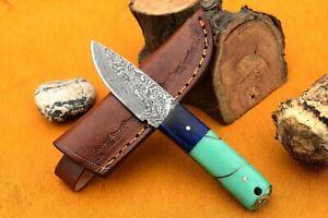 MH KNIVES CUSTOM HANDMADE DAMASCUS STEEL FULL TANG HUNTING/SKINNER KNIFE MH-325M