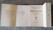 MEMOIRES DE GUERRE- CHARLES DE GAULLE - 3 VOLUMES (EO PLON numéroté)