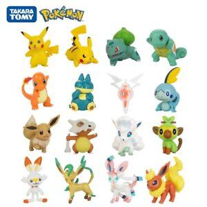Tomy Pokémon 3-7cm Pet Collection Mini Figure Toys Pikachu Squirtle Charmander