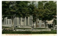 Pleasantville NY - FIRST METHODIST EPISCOPAL CHURCH - Handcolored Postcard