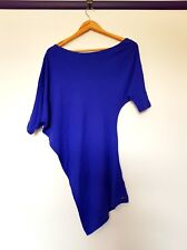 Guess womens size XS royal blue 3/4 sleeve off sholder slouch dress