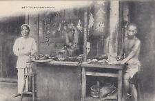 1910s Vintage Postcard Vietnam Chinese Butcher Shop Real Photo 99p Start!