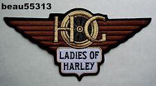 """""""LARGE"""" LADIES of HARLEY DAVIDSON OWNERS GROUP HOG LOH BACK VEST JACKET PATCH"""