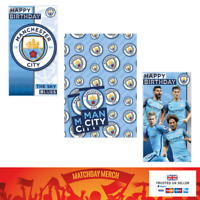 Manchester City FC Official Birthday Card Crest Fan Certificate Gift Wrap