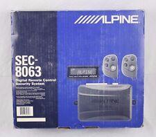 Alpine SEC-8063 Automobile Car Alarm Digital Remote Control Security System