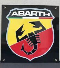 Abarth Fiat Lancia Alfa Motor Oil Gas Garage Sign