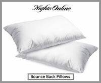2x Luxury Bounce Back Pillows, Optimum Quality Hollow Fibre Pillows