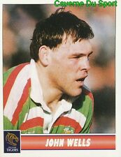 084 JOHN WELLS  LEICESTER TIGERS STICKER PREMIER DIVISION RUGBY 1998 PANINI