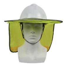 Hard Hat Sun Shade Visor Mesh Neck High Visibility Reflective 2 Colors
