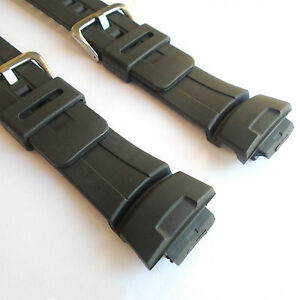 WATCH STRAP to fit CASIO G-SHOCK G101 G100 Black Rubber Resin New Replacement