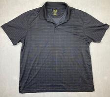 Cool 18 Performance Haggar Clothing Co Mens Plaid Golf Polo Shirt Shirt Size L