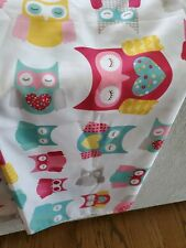 Ciirco Animal Print Shower Curtain Owl Excellent Condition