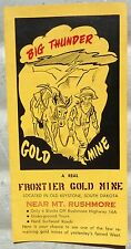 Big Thunder Gold Mine Old Keystone South Dakota vintage brochure late 50's? b