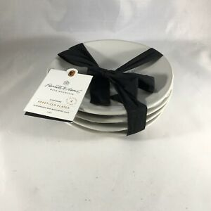 Hearth & Hand With Magnolia Holiday Appetizer Plates Set of 4 Stoneware