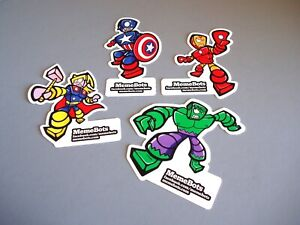 Sticker Lot NYCC MemeBots Captain America Thor Iron Man Hulk BZA Robot Pop Art