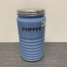 Jeannette Glass Co Delphite Blue Coffee Canister