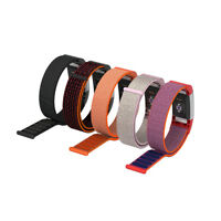 L/S Woven Nylon Sport Loop Sport Watch Band Strap Wristband For Fitbit Charge 2