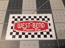 West Bend 580 Vintage Engine Decal Go Kart Mini Bike