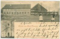 Ansichtskarte Gruss aus Bad Pilzweg - Kirche / Das Bad - Litho 1903 -SELTEN RARE