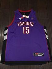 VTG🔥 Nike NBA Toronto Raptors Vince Carter Authentic Sewn Jersey Sz 56 Satin LE