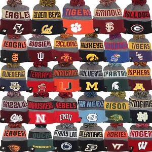 New Era 2017 College NCAA NFL On Field NE16 Model Sport Knit Pom Beanie Hat Cap